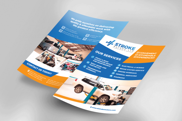 Bold Marketing flyer design for Auto repair shop