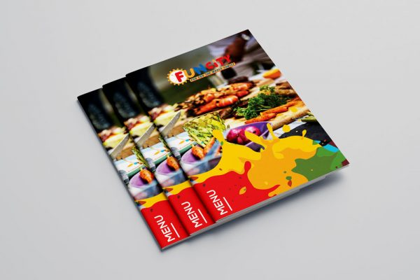 Amusement park foods and drinks menu design