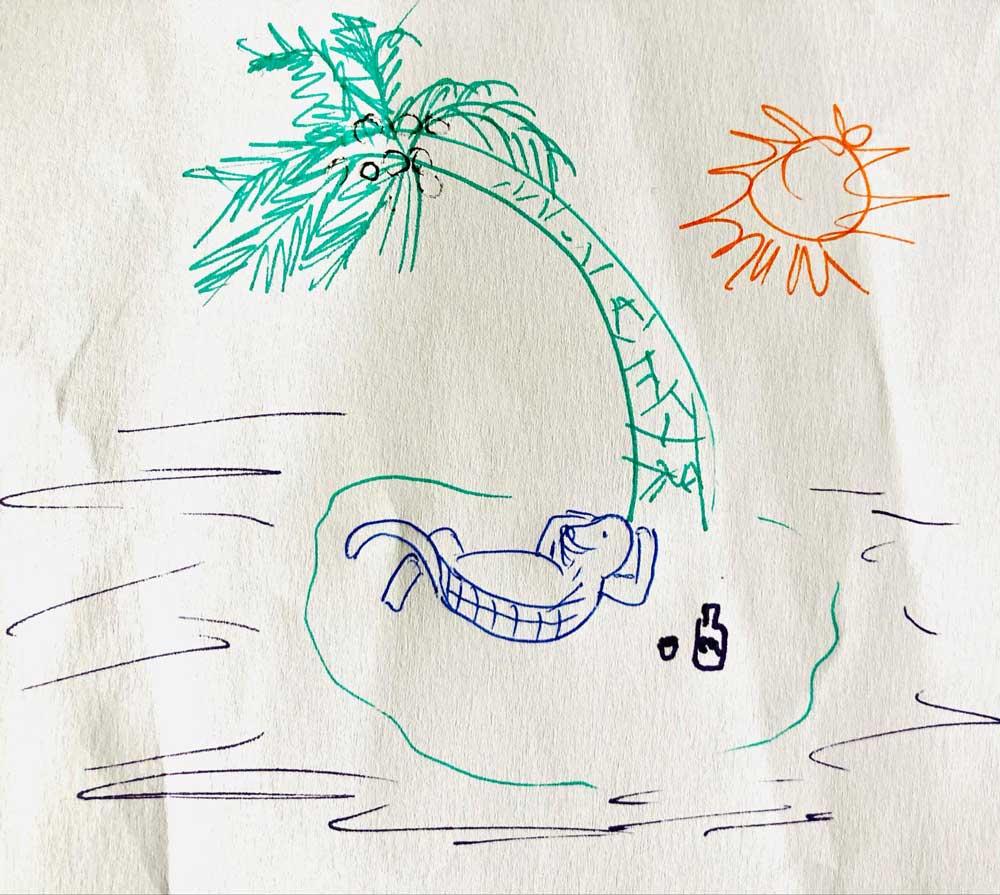 Tortuga Rum Bar logo idea sketch